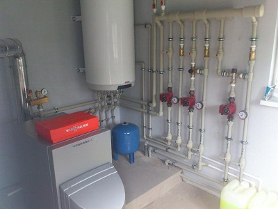 схема отопления и водоснабжения дома