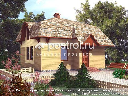 дачный дом с камином