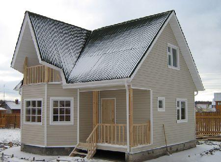 отделка фасадов дачных домов