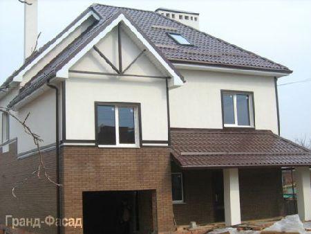 отделка фасадов домов пенопластом