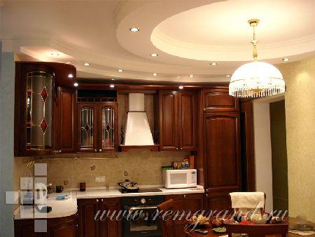 ремонт кухни дизайн потолка