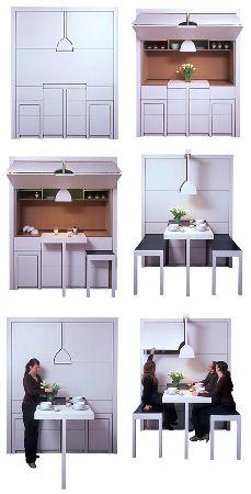 необычный дизайн маленькой кухни