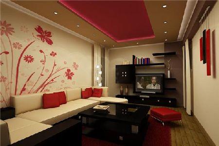 дизайн стен узкой комнаты