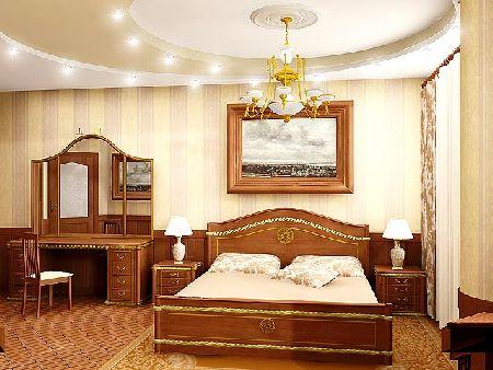 дизайн спальни фотографии с потолками