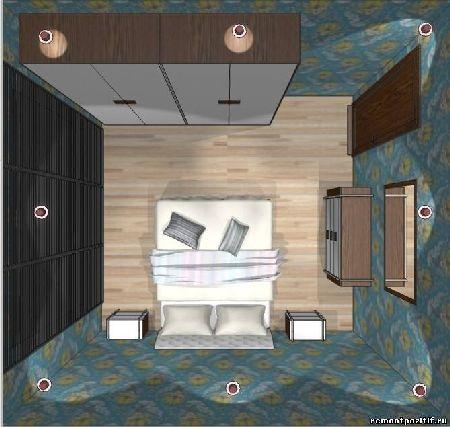дизайн спальни в типовой квартире