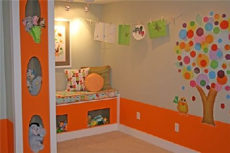 дизайн спальни в оранжевом цвете