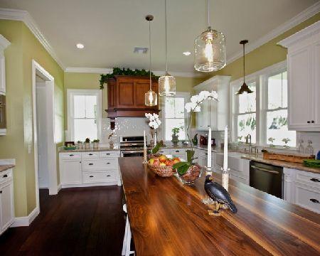 дизайн кухни в оливковом цвете