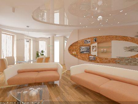 дизайн комнаты в персиковых тонах