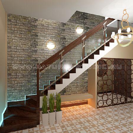 дизайн интерьера прихожей с лестницей