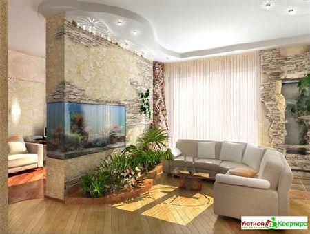 оформление и дизайн гостиной
