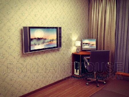 дизайн спальни совмещенной с кабинетом