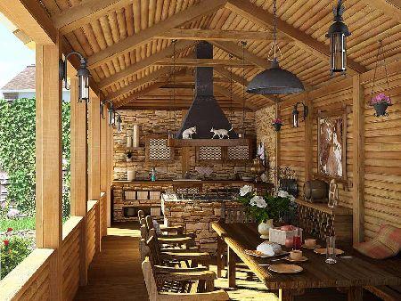 дизайн гостиной в деревенском стиле