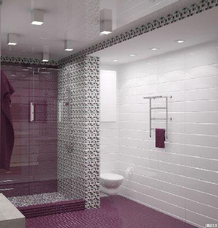 дизайн ванной в городской квартире