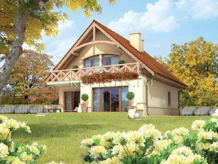 фото домов с двускатной крышей