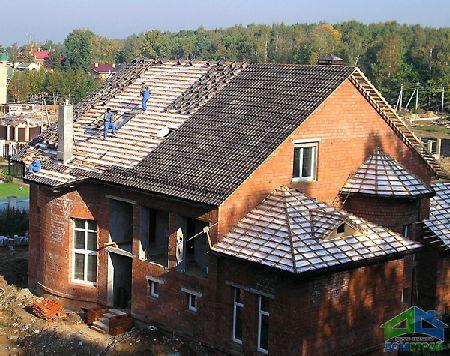 установка крыши дома цена