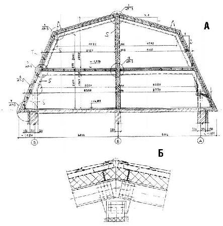 конструкция мансардной крыши фото